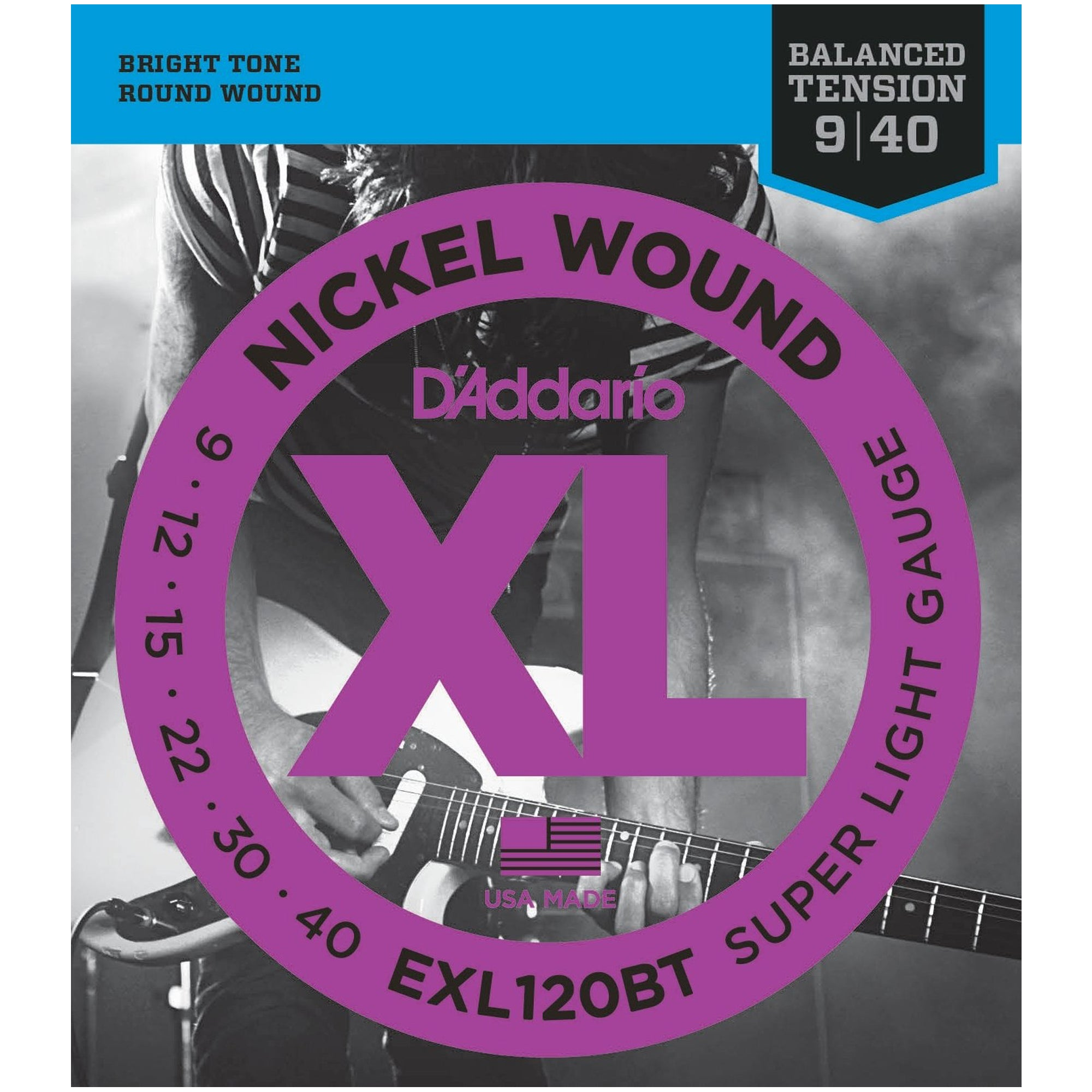 D'Addario 9-40 Balanced Tension Electric Guitar Strings