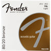 Fender 70L 80/20 Bronze Acoustic Strings 12-52