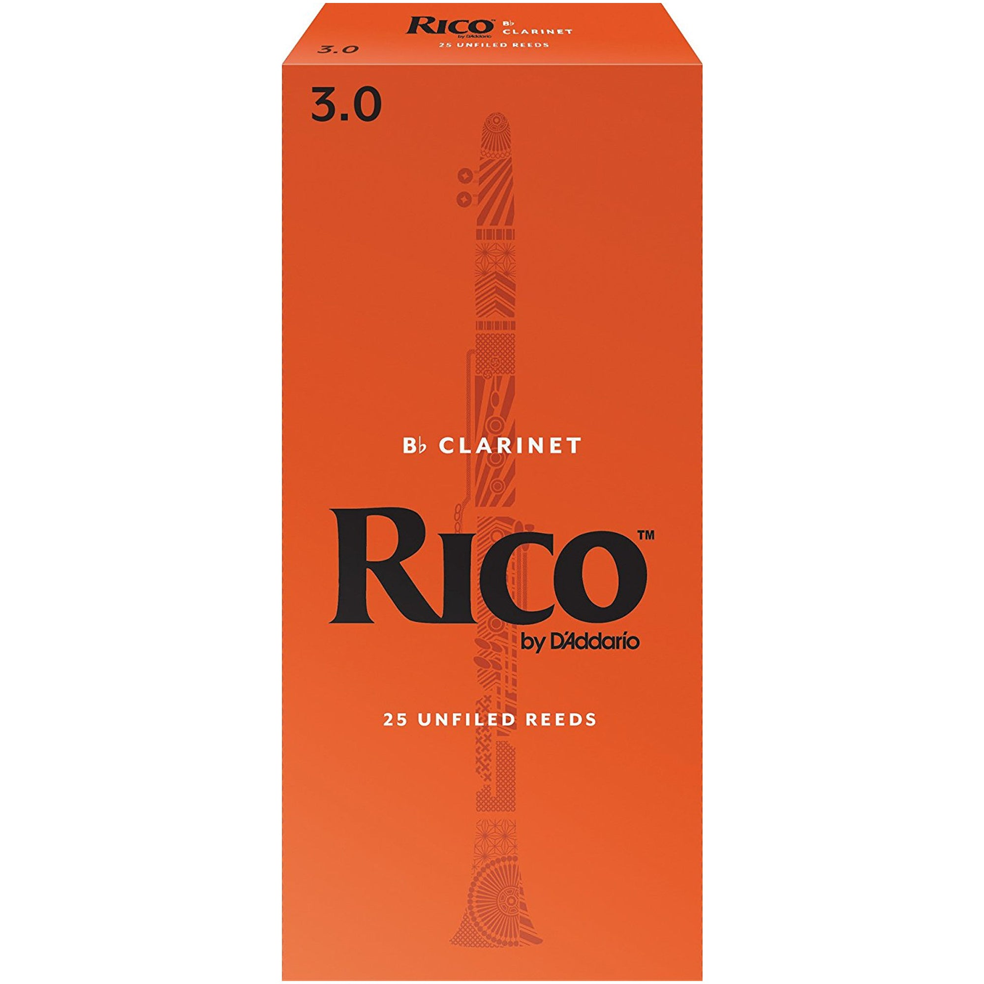 Rico #3 Clarinet Reed 25box