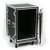 "Elite Core Aud 16 Space (16U) ATA Rack Amp Road Shock Mount Case (20"" Deep) w/ Casters 