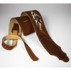 Franklin Straps Sculpted Suede Guitar Strap - Snakeskin Leather - Rust
