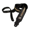 Franklin Straps Southwest Padded Leather Guitar Strap - Black