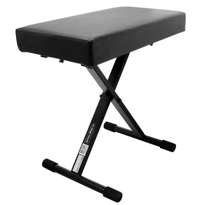 OnStage KT7800+ Deluxe Padded Keyboard Bench - adjustable and foldable