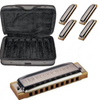 Hohner Blues Harp 5-piece Harmonica Set with Case - Palen Music