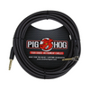 Pig Hog 20' Black Woven Inst Cable -Rt Angle Plug - Palen Music
