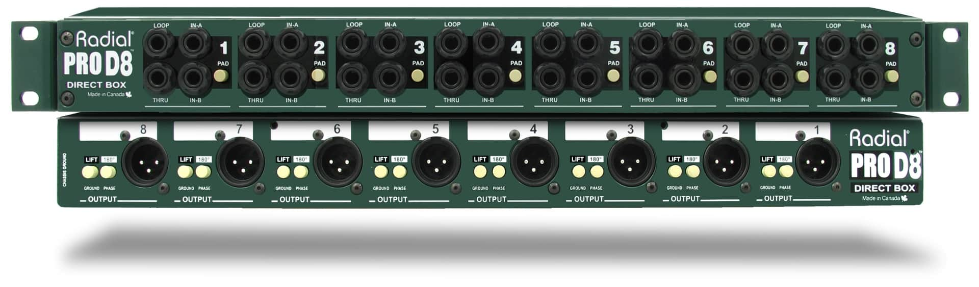 Radial 8-Channel Passive Direct Box