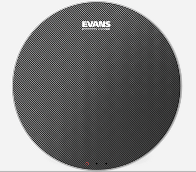 "Evans 14"" Hybrid Grey Marching Snare Drum Head	SB14MHG - Palen Music"
