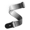 White Optical Stripes Guitar Strap | Palen Music