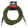 Strukture Woven Military Green 18.6' Inst Cable - Palen Music