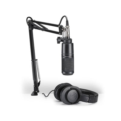 Audio-Technica AT2020PK Podcasting Pack (includes Mic, Headphones & Desk stand)