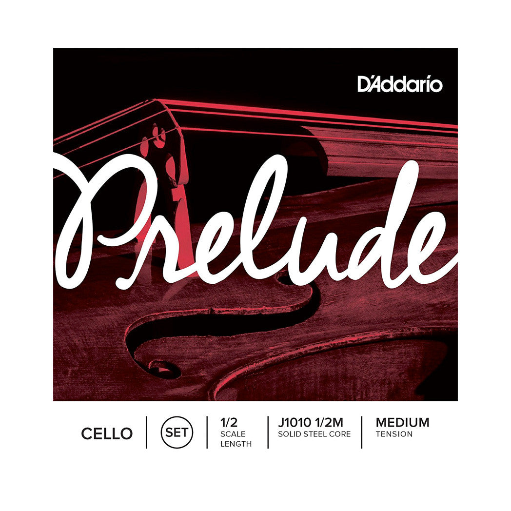 D'Addario Prelude Cello String Set - 1/2 Scale, Medium Tension