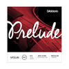 D'Addario Prelude Violin String Set - 4/4 Scale, Medium Tension