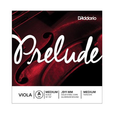 D'Addario Prelude Viola Single Strings - Medium Scale, Medium Tension