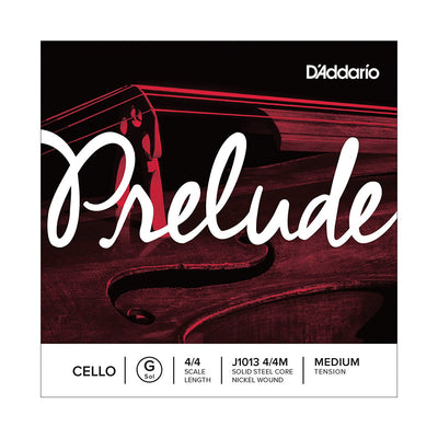 D'Addario Prelude Cello Single Strings - 4/4 Scale, Medium Tension
