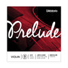 D'Addario Prelude Violin Single Strings - 3/4 Scale, Medium Tension
