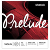 D'Addario Prelude Violin String Set - 1/2 Scale, Medium Tension