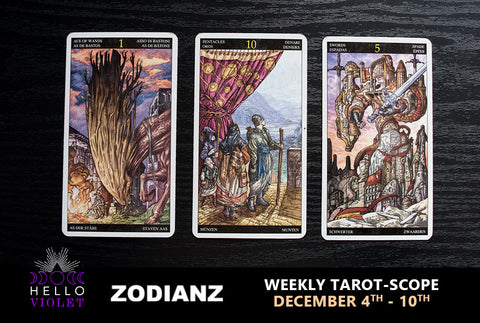 December 04th – 10th Weekly Tarot-Scope by Joan Zodianz