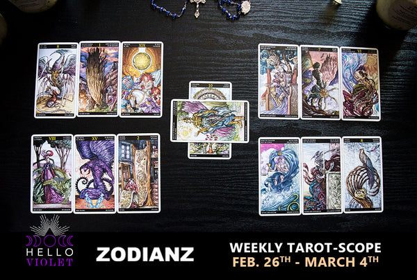 zodiac weekly tarot-scope by joan zodianz