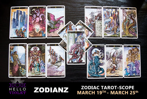 Weekly Zodiac Tarot-Scope: March 19-25 by Joan Zodianz
