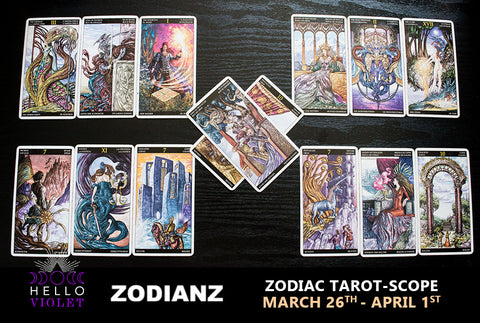 Weekly Zodiac Tarot-Scopes: March 26th – April 1st by Joan Zodianz