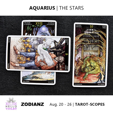 Aquarius Zodiac Tarot-Scopes (Eclipse Special) August 20 - 26