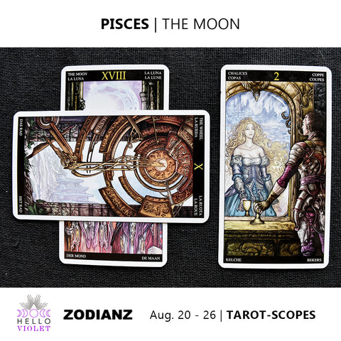 Pisces Zodiac Tarot-Scopes (Eclipse Special) August 20 - 26