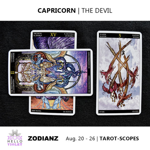 Capricorn Zodiac Tarot-Scopes (Eclipse Special) August 20 - 26