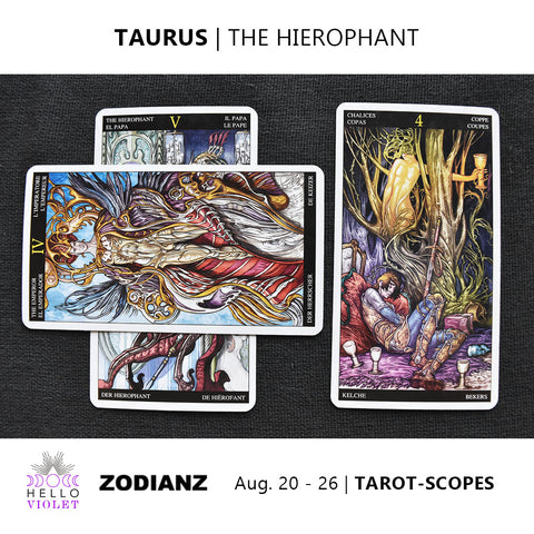 Taurus Zodiac Tarot-Scopes (Eclipse Special) August 20 - 26