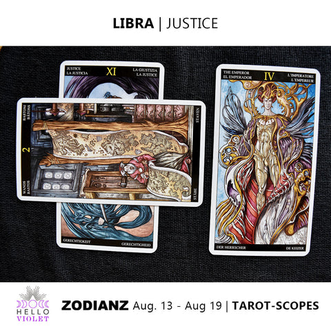 Libra Zodiac Tarot-Scopes August 13th - 19th