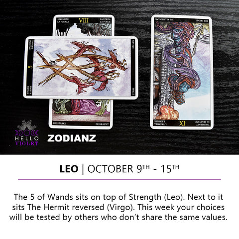 Leo Zodiac Tarot-Scopes October 9th -  15th