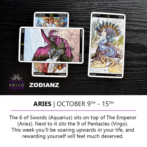 Aries Zodiac Tarot-Scopes October 9th -  15th