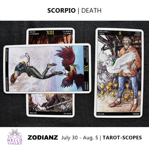 Scorpio Weekly Tarot-scopes July 30th - August 5th