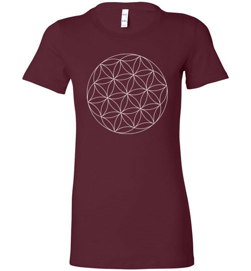 Flower of Life Sacred Geometry T-Shirt - Hello Violet