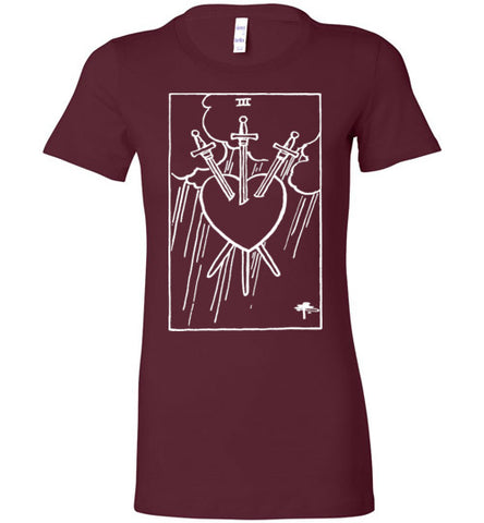 Three Of Swords Tarot Tee - Hello Violet