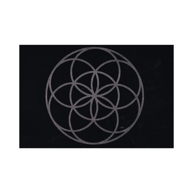 Seed of Life Crystal Grid Mat - Hello Violet