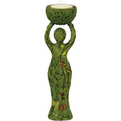 Mother Earth Goddess T-Light Candle Holder
