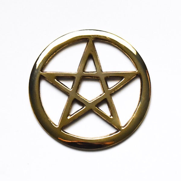 Brass Pentacle Altar Tile