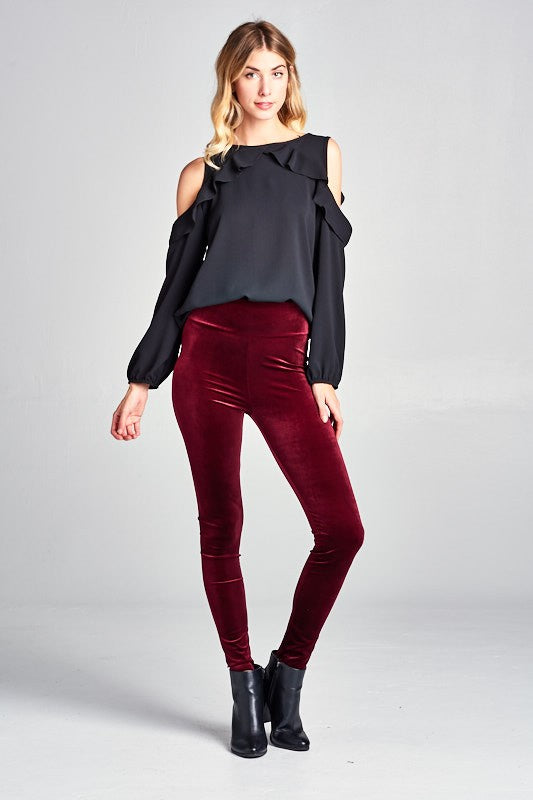 So Vamp Velvet High Waist Leggings
