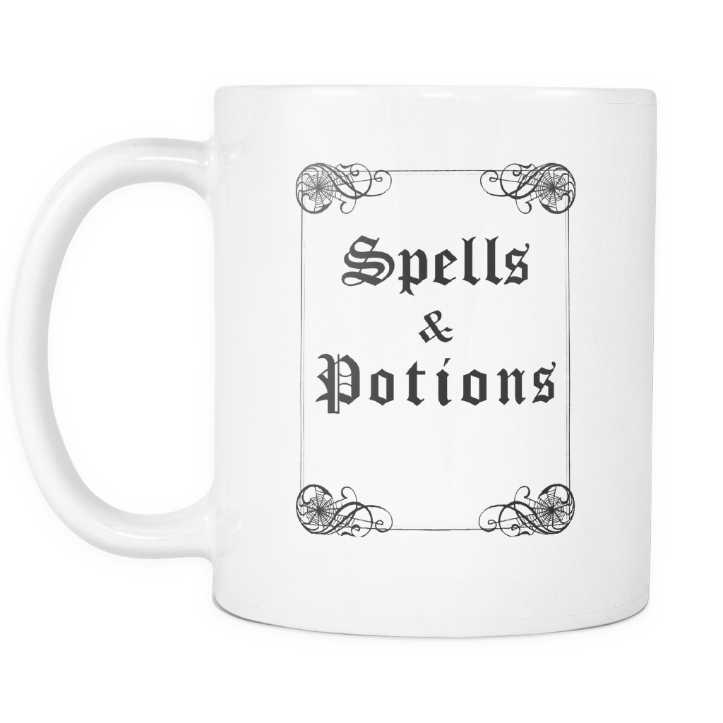 Spells and Potions Grimoire Mug