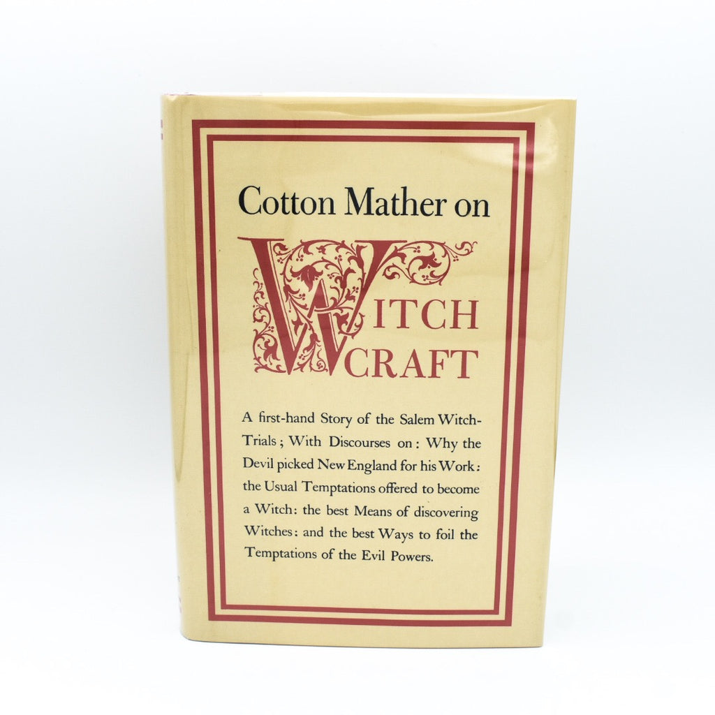 Cotton Mather On Witchcraft, 1991 Hardcover - Hello Violet