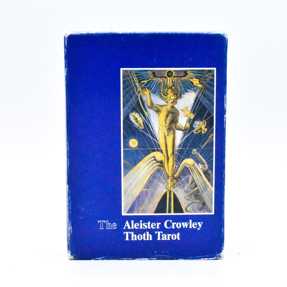Vintage Aleister Crowley Thoth Tarot Deck // Large Swiss Blue Box A // 1986 AG Muller