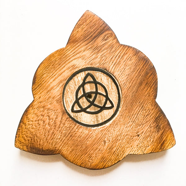 Triquetra Wood Incense Burner - Hello Violet