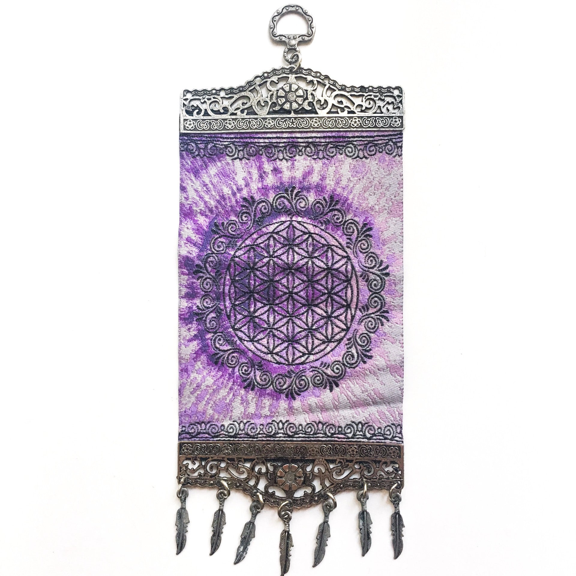 Tie Dyed Flower of Life Carpet Wall Hanging - Hello Violet
