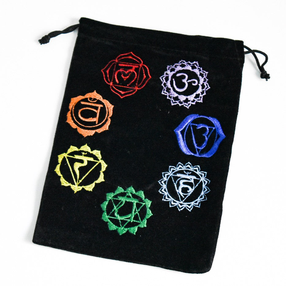 Velvet Embroidered Chakra Bag - Hello Violet