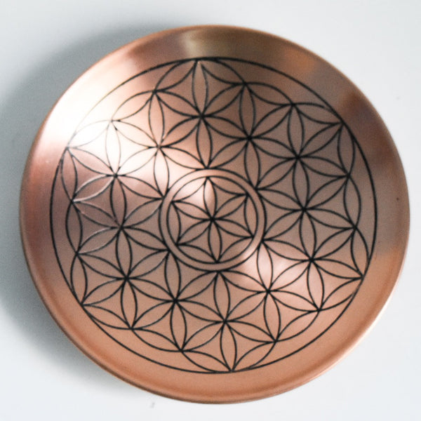 Copper Flower of Life Decorative Plate - Hello Violet