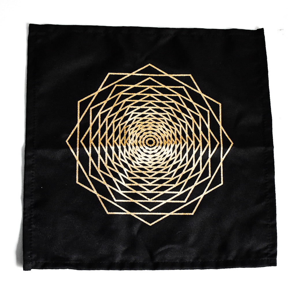 Sacred Geometry Cotton Crystal Grid - Dodeca Fractal