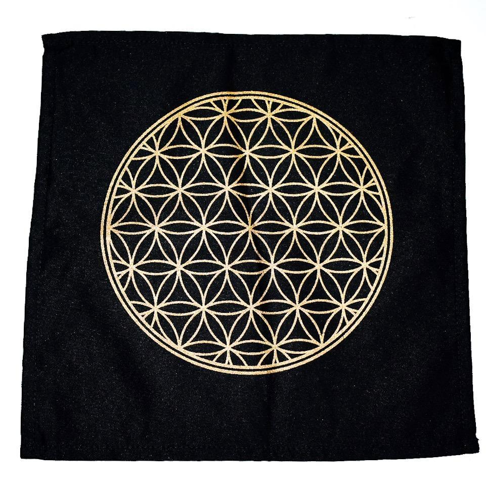 Sacred Geometry Cotton Crystal Grid - Flower of Life