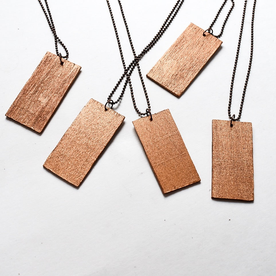 Wooden Wonderland Alice + Dodo Necklace - Hello Violet
