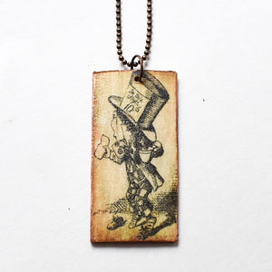 Wooden Wonderland Mad Hatter Necklace - Hello Violet