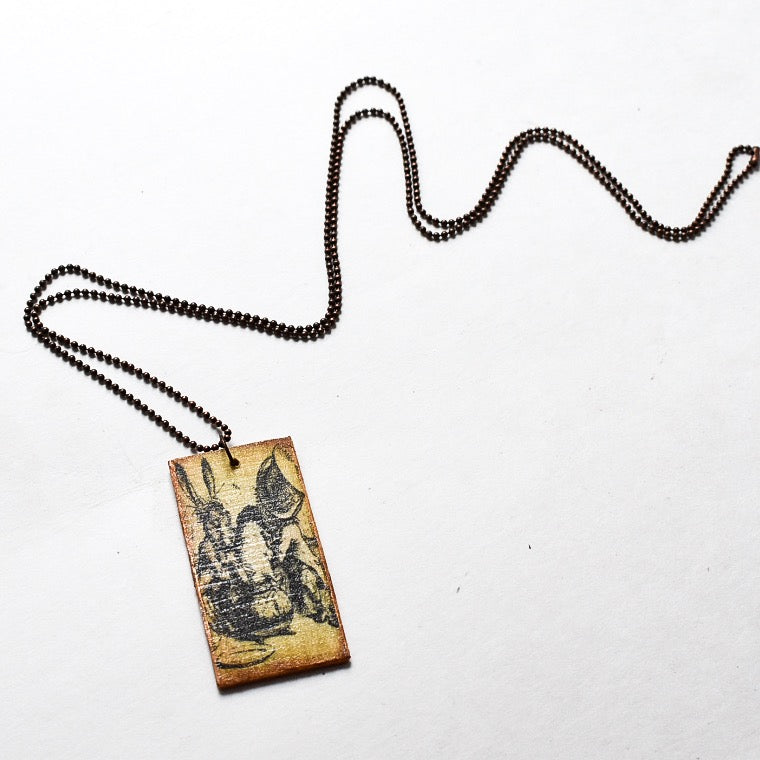 Wooden Wonderland Mad Tea Party Necklace